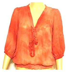 Tops - Hand Dyed Sheer Blouse